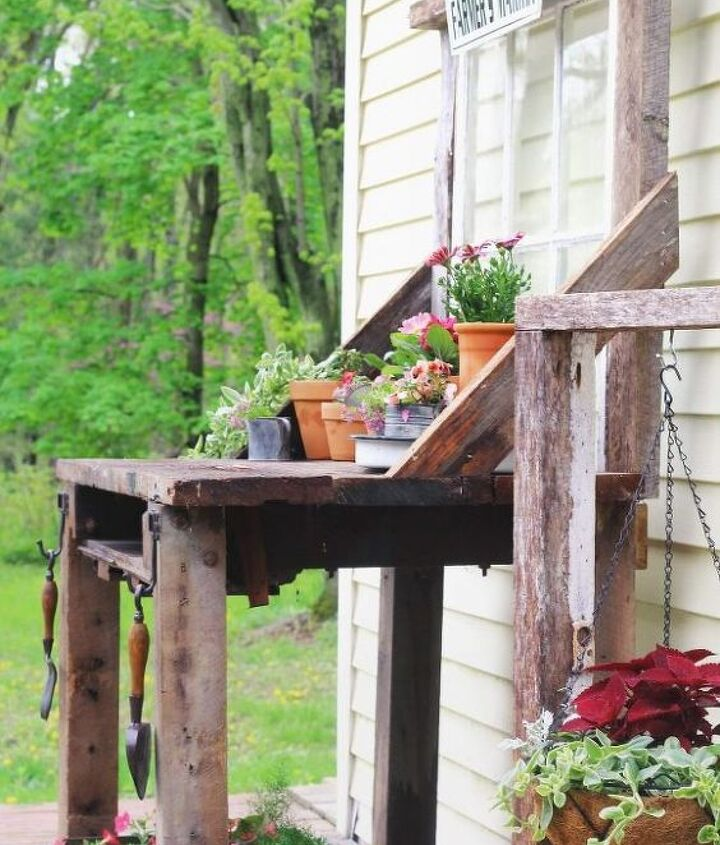 potting bench tutorial using recycled products