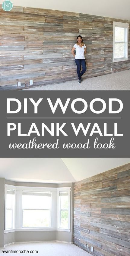 diy wood plank wall with chalk paint