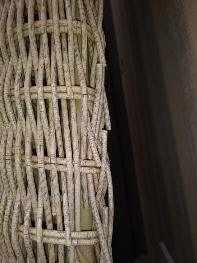 q how do you fix the little broken wicker pieces on wicker furniture