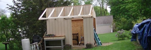 q organize a brand new shed still building