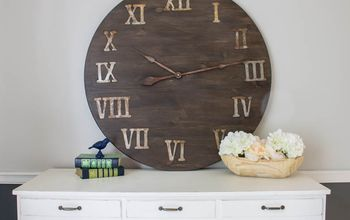 How to Make a Giant DIY Wall Clock...from a Tabletop