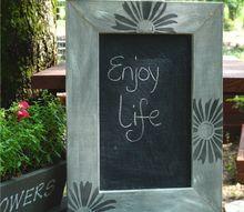 dry brush frame chalkboard