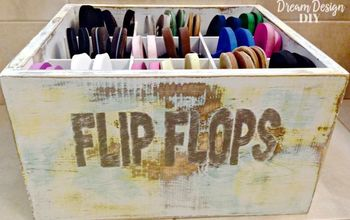 How to Make a Flip Flop Bin for Storage and Organization