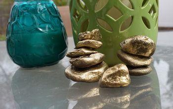 DIY Golden Rock Paperweights