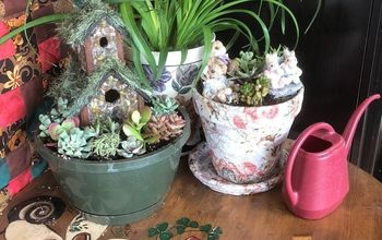 Boring Flower Pot to Beautiful Bunny Garden!