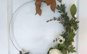 spring half wreath
