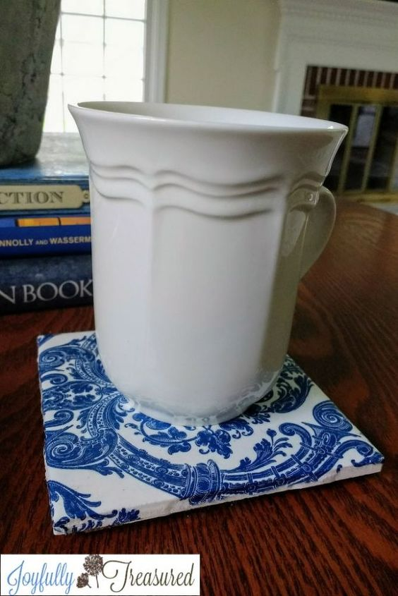 how to make coasters out of ceramic tiles and napkins easy diy decor