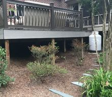 a creative deck solution to prevent runoff and add appeal
