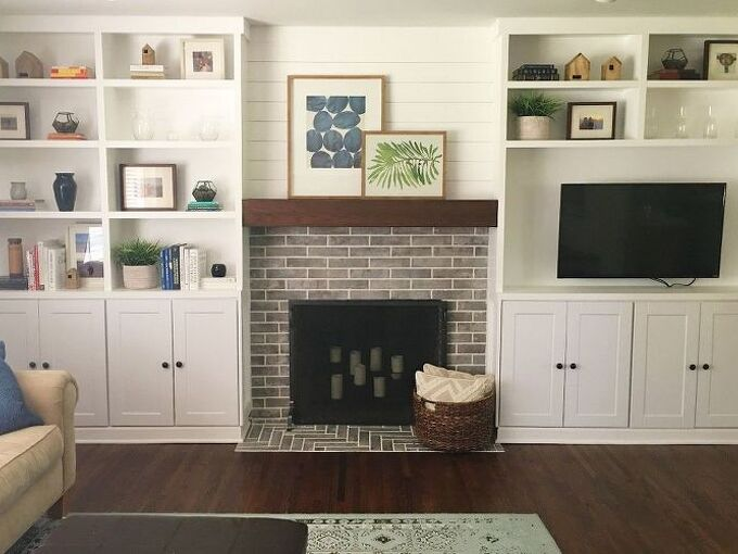 adding built ins around our fireplace