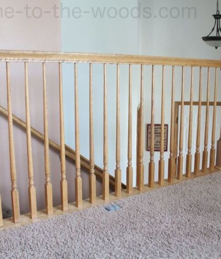 diy stair railing redo for added safety