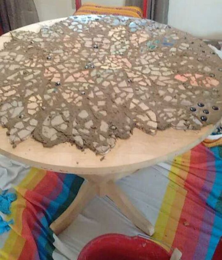 mandala mosaic table and chair project