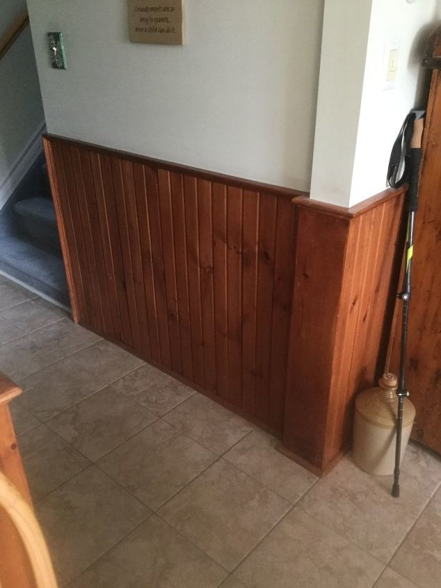 q colour and prep required for dark stained wainscoting