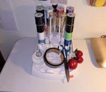 dishwasher baby bottle shelf to sewing storage