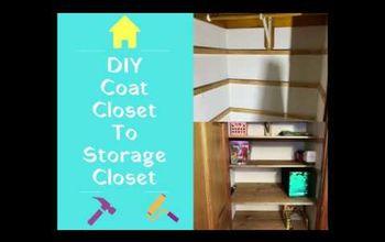 DIY Convert Coat Closet To Storage Closet or Pantry