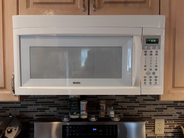 q how do i make my microwave stainless when it s white
