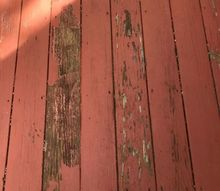 q i had someone paint my deck and it started peeling very soon after w