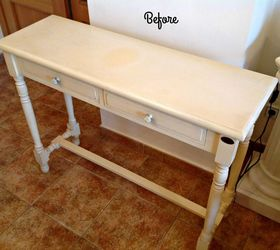 Hall Table Painted In Rustoleum Chalk Paint Sage Green