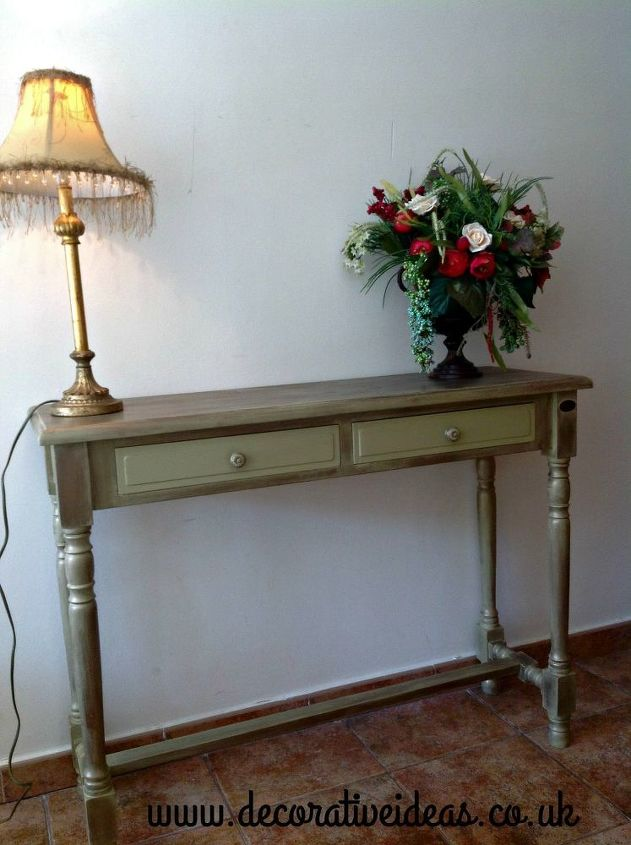 Hall Table Painted In Rustoleum Chalk Paint