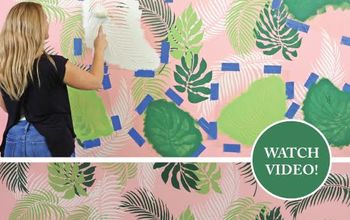 STENCIL A TROPICAL WALL FOR UNDER $95
