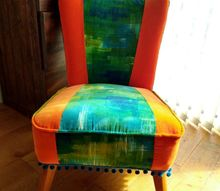 velvet patchwork reading chair, Finished chair