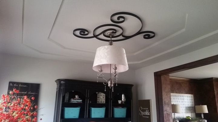s 17 impossibly creative ceiling ideas that will transform any room, Repurpose wall decor into ceiling art
