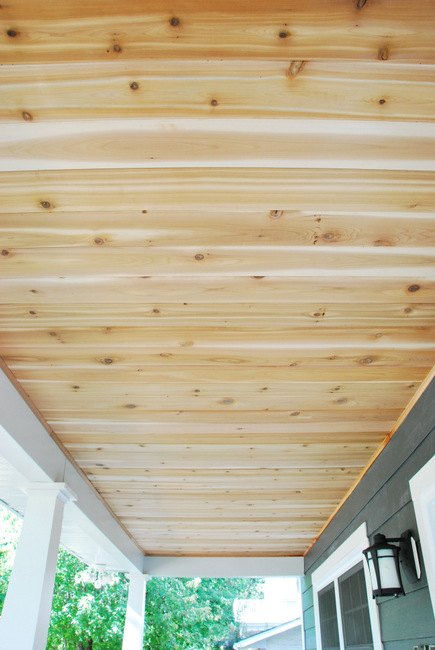 s 17 impossibly creative ceiling ideas that will transform any room, Use Cedar Wood To Line The Ceiling
