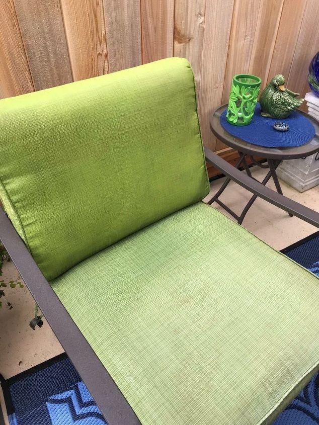 Painted back cushion, unpainted bottom cushio