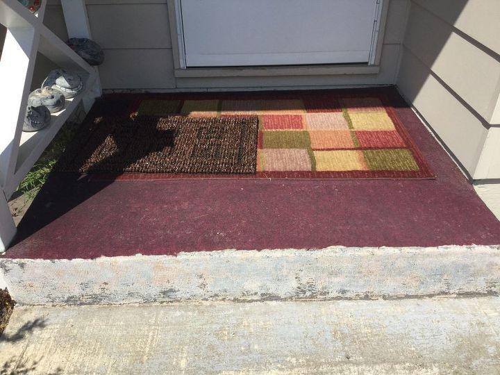 Glued Carpet On Outdoor Steps How To, How To Glue Outdoor Carpet Concrete Steps