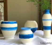 west elm knock off striped vases for less than 1 10 the price