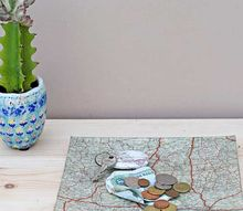 personalized handy map trinket dish