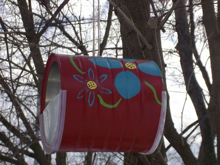 s 13 bird feeders from upcycled items, Coffee Cans Repurposed