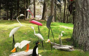 diy pvc birds flamingo blue heron woodpecker egrets