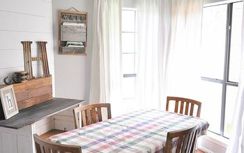 how to make no sew bleached drop cloth curtains