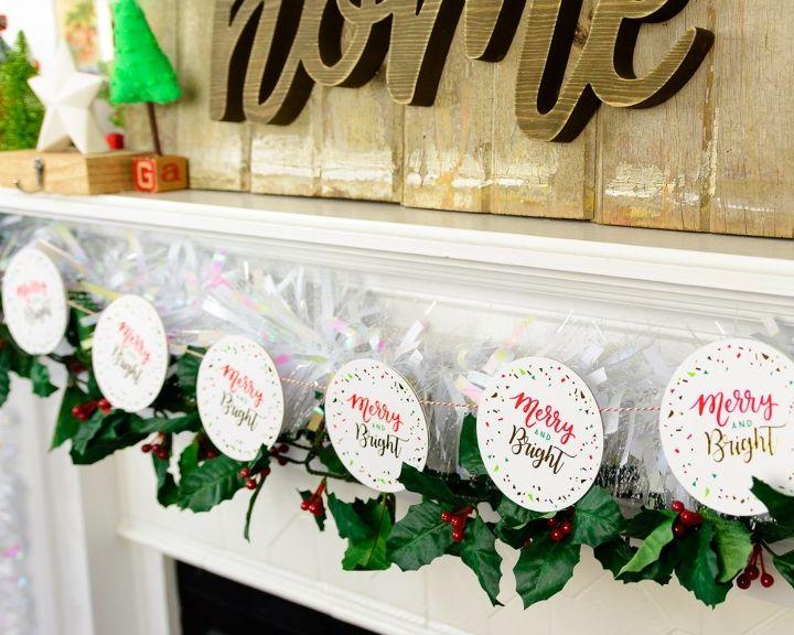 quick christmas coaster garland