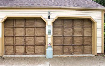 faux finishing garage doors to look like wood