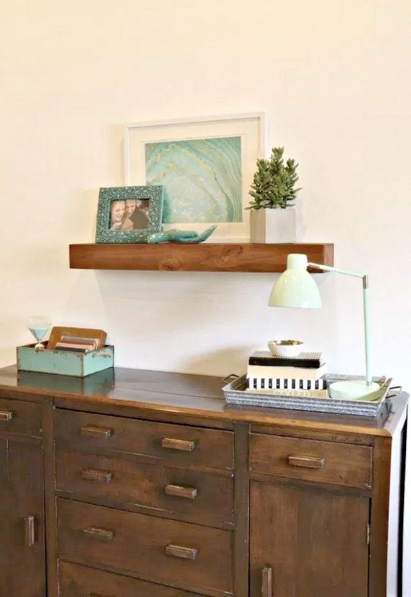 diy floating shelf build and install