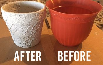 how to age a pot with texture for an antique vintage look