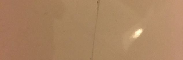 q how to repair a long crack in a porcelain kitchen sink