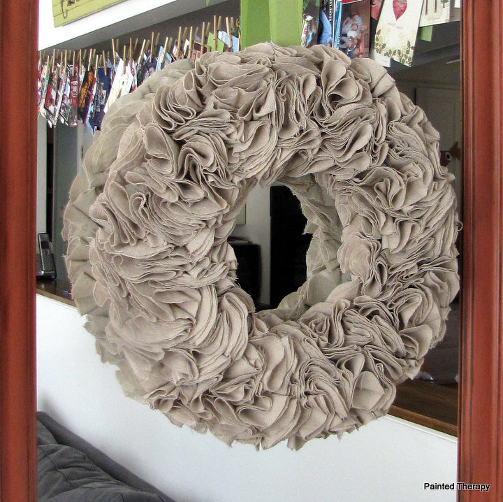 s 20 ways to improve your drop cloth, Painter s Cloth Wreath