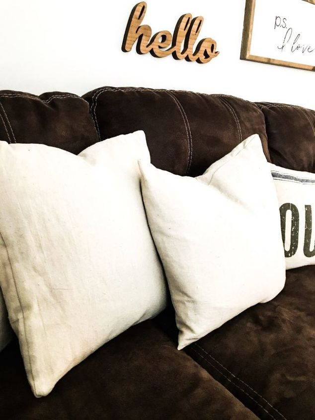s 20 ways to improve your drop cloth, Envelope Pillow Covers