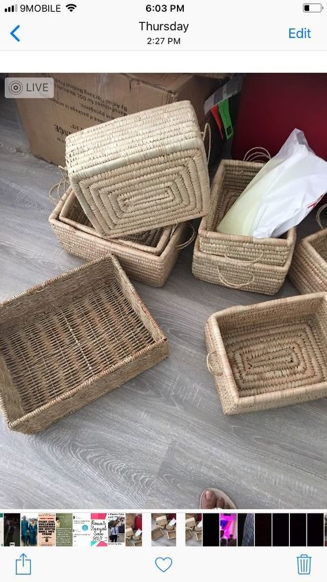 q hi i will like to decorate the outer part of these baskets help