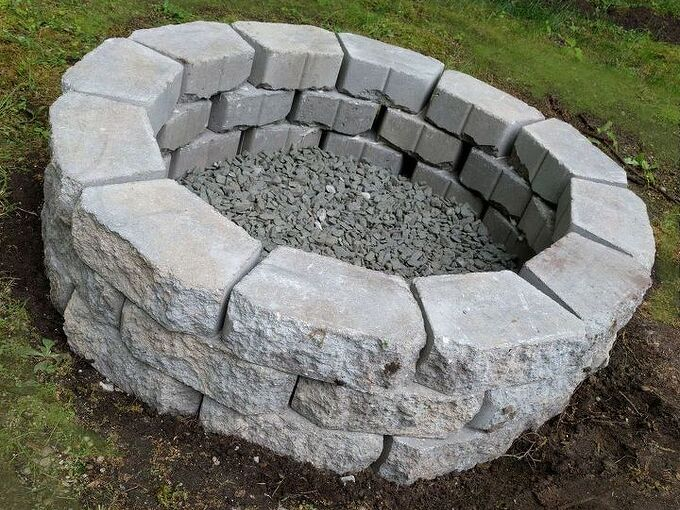 inexpensive diy fire pit