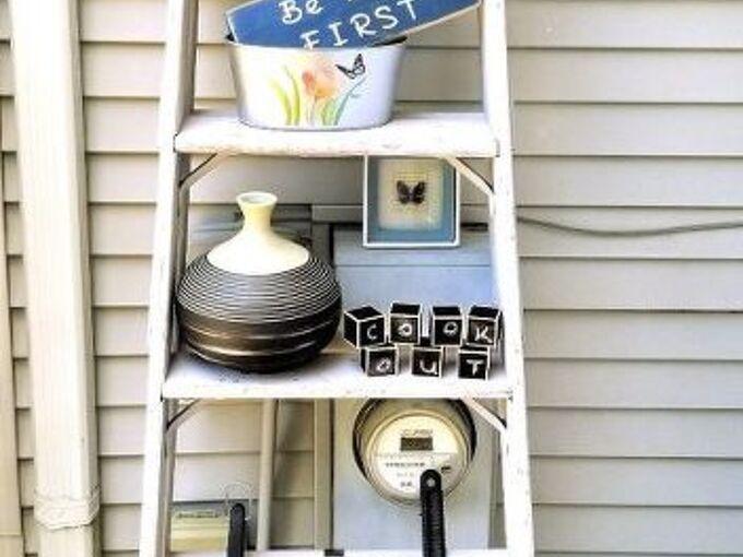 ladder redo into shelf for deck