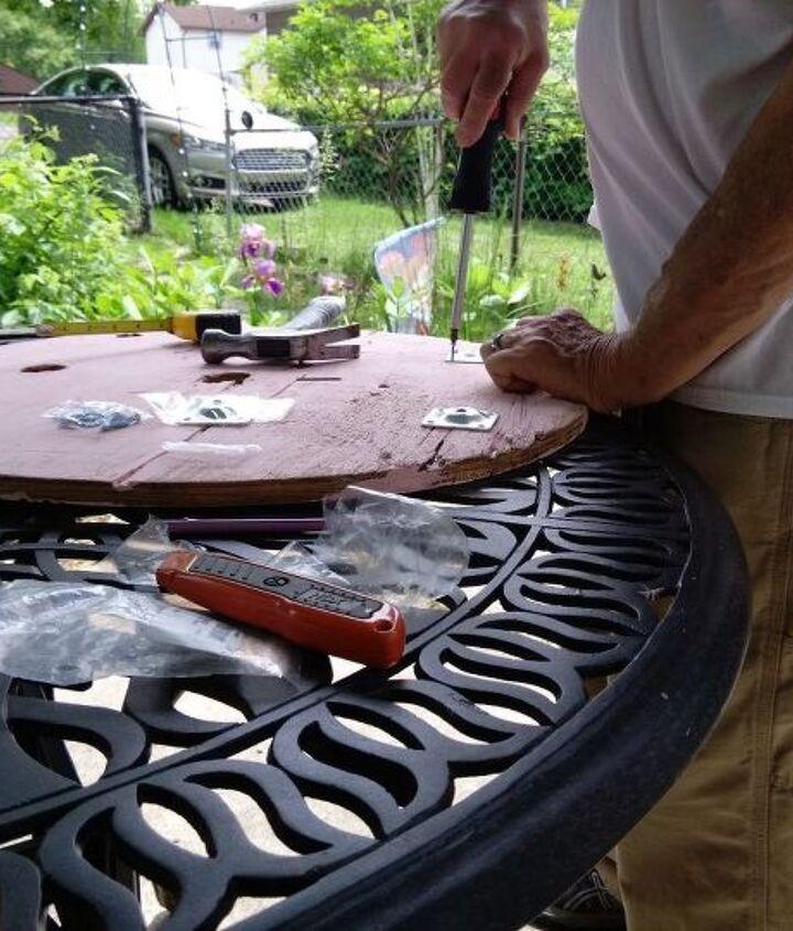 Brackets being installed