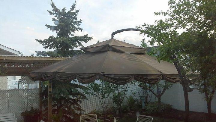 q can we renew this cloth patio umbrella