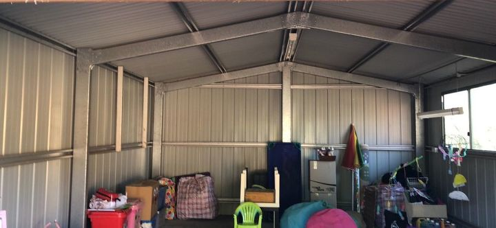 q how to line a colour bond shed to use as a home day care room