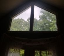 q how can i fix the problem with the sunlight coming in triangle windows