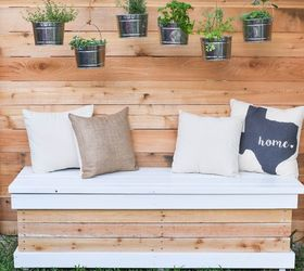 Charmant Diy Outdoor Storage Bench With Hidden Storage Containers