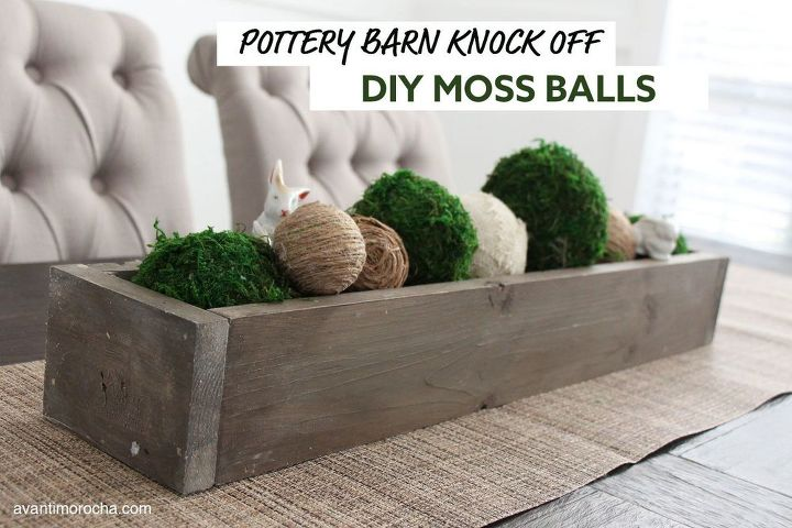 pottery barn knock off diy moss ball dollar tree