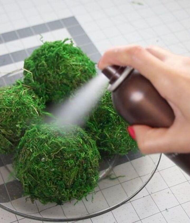 pottery barn knock off diy moss ball dollar tree